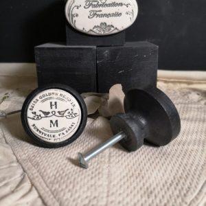 Bouton-poignee-meuble-button-handle-tiroir-porte-artisanal-original-pub-cuisine-animal-duo-oiseau-couleur-bois-noir