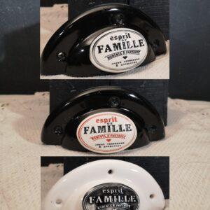 Poignée coquille meuble de tiroir ou porte artisanal original pour cuisine salle de bain chambre bureau ou autre Esprit de famille en céramique poignée présentation
