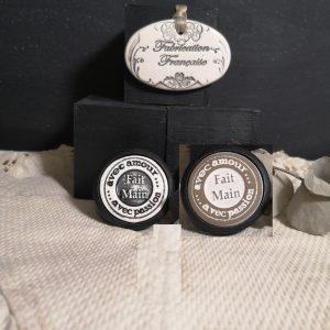 Bouton poignée meuble button handle tiroir porte artisanal original pub Fait Main couleur bois noir