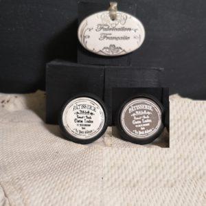 Bouton poignée meuble button handle tiroir porte artisanal original pub Patisserie Lenôtre couleur bois noir