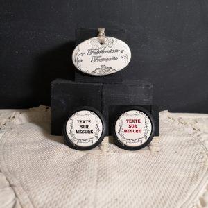 Bouton poignée meuble button handle tiroir porte artisanal original pub vins texte sur mesure couleur bois noir