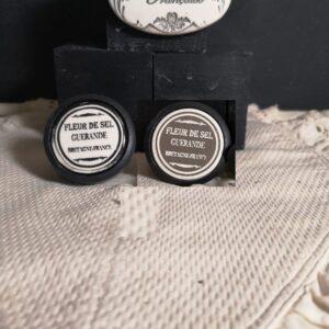 Bouton poignée meuble button handle tiroir porte artisanal original pub Fleur de Sel couleur bois noir